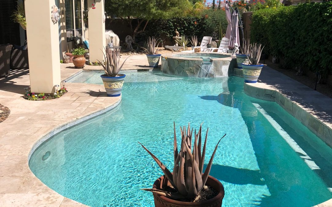 Picture of a homeowner's pool in the Coachella Valley desert