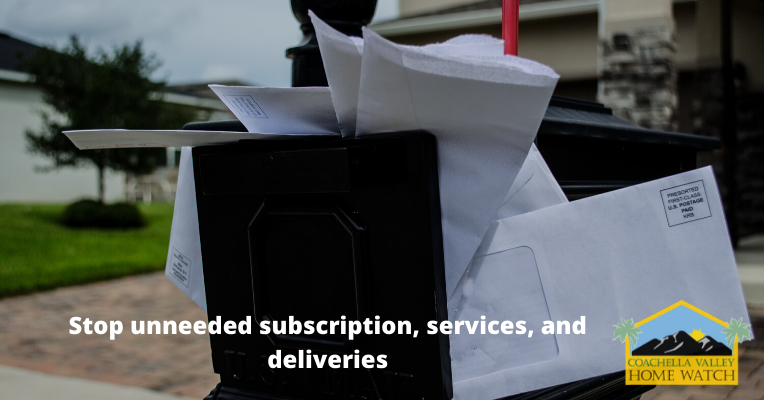 Stop unneeded subscription, services, and deliveries